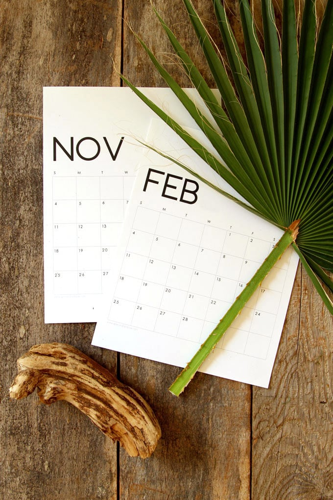 2020 monthly calendar & monthly planners free printable downloads