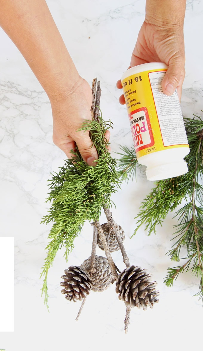 Turn a few pine cones and branches into the most beautiful decorations today! Practically free and so creative, it only takes 3 minutes! #pinecones #pineconecrafts #diy #homedecor #homedecorideas #diyhomedecor #thanksgiving #christmas #christmasdecor #christmascrafts #christmasideas #christmasdecorations #crafts #crafting #winter #farmhouse #vintage #farmhousestyle #farmhousedecor #weddingdecor