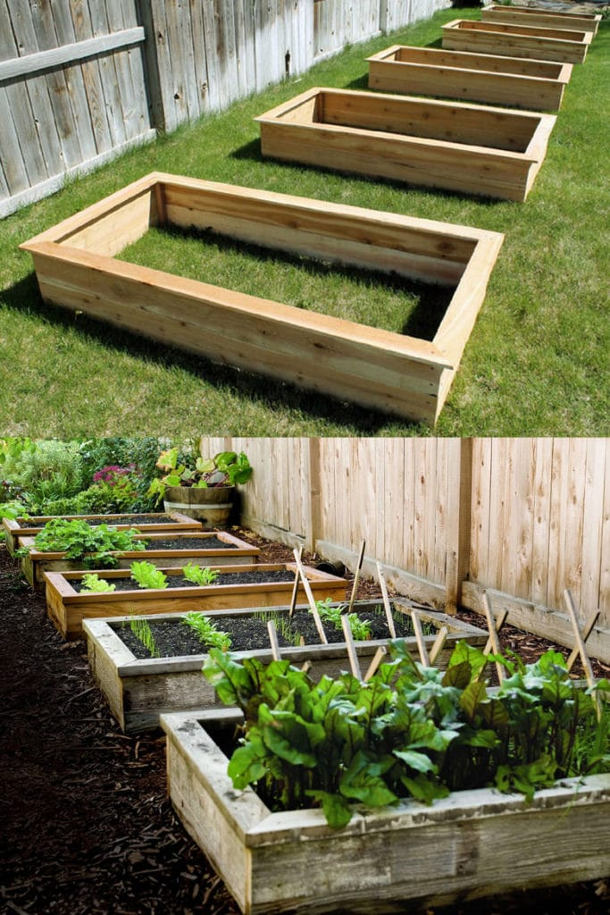 Easy DIY raised garden box designs