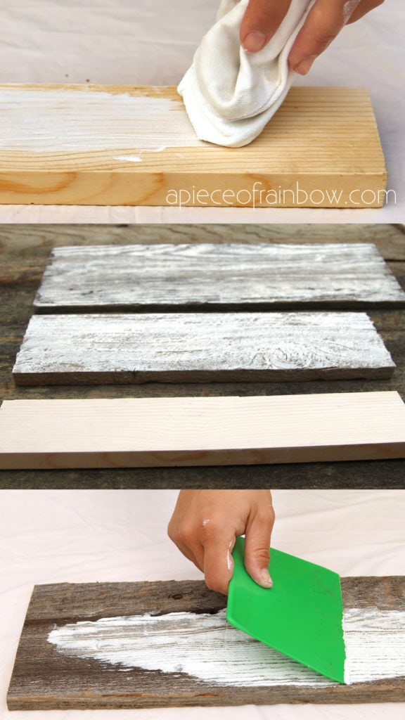 how to whitewash pine, pallet or reclaimed wood