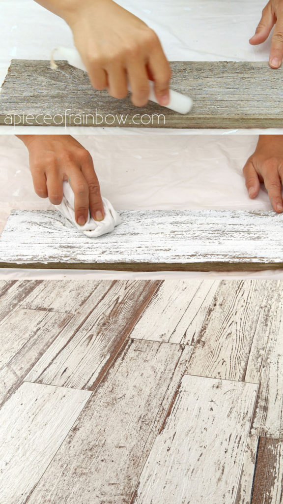 vintage farmhouse white washed wood floor
