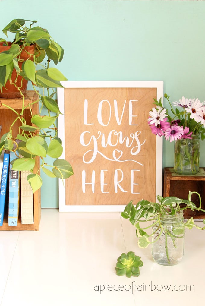 Easy Diy Wood Wall Art With Hand Lettered Quotes A