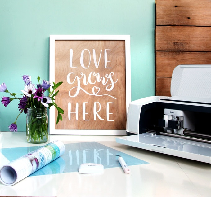 Cricut Home Decor Ideas: Easy DIY Wood Wall Art With Hand Lettered Quotes {Double