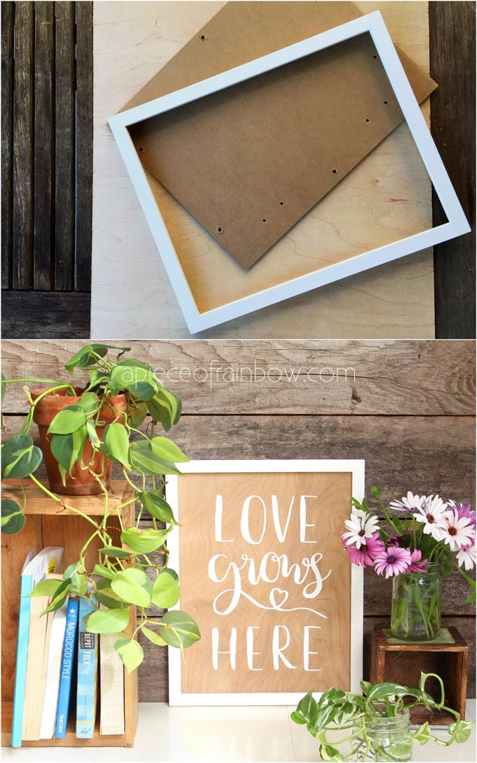 Easy Diy Wood Wall Art With Hand Lettered Quotes Double Sided A Piece Of Rainbow