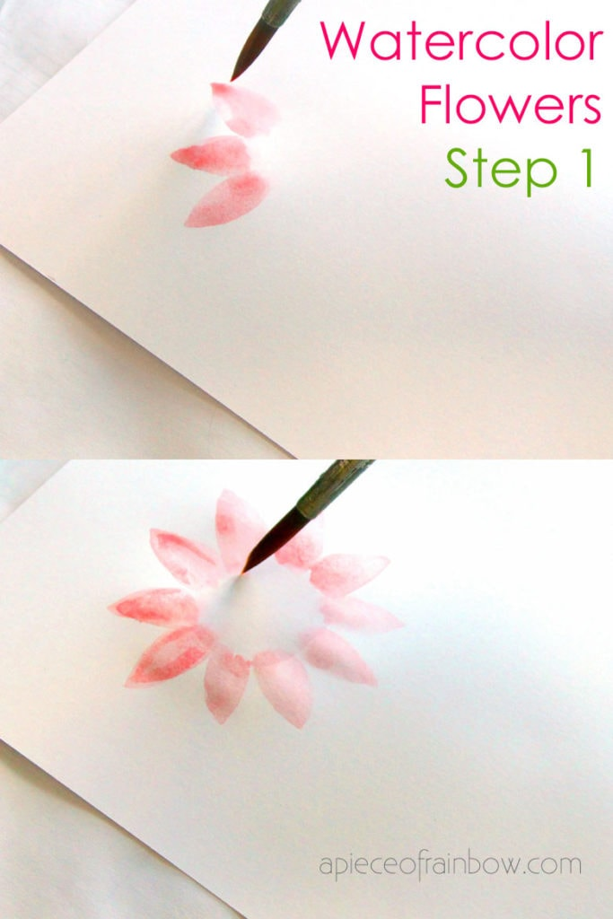 step by step watercolor flower painting tutorial for beginners