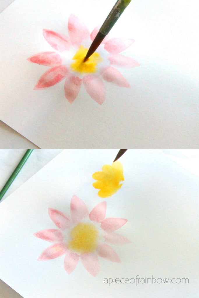 simple watercolor flower painting for beginners