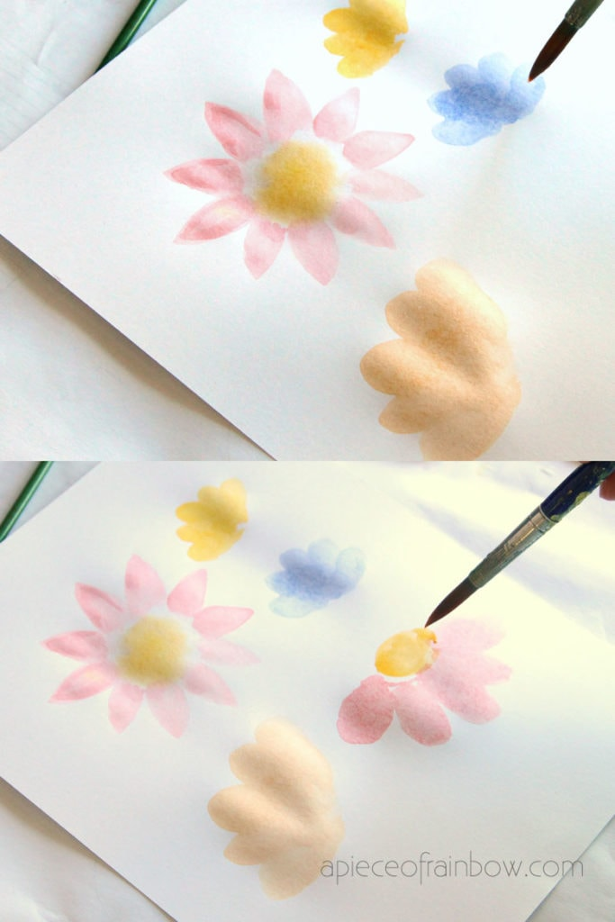 painting watercolor flowers colorful bouquet