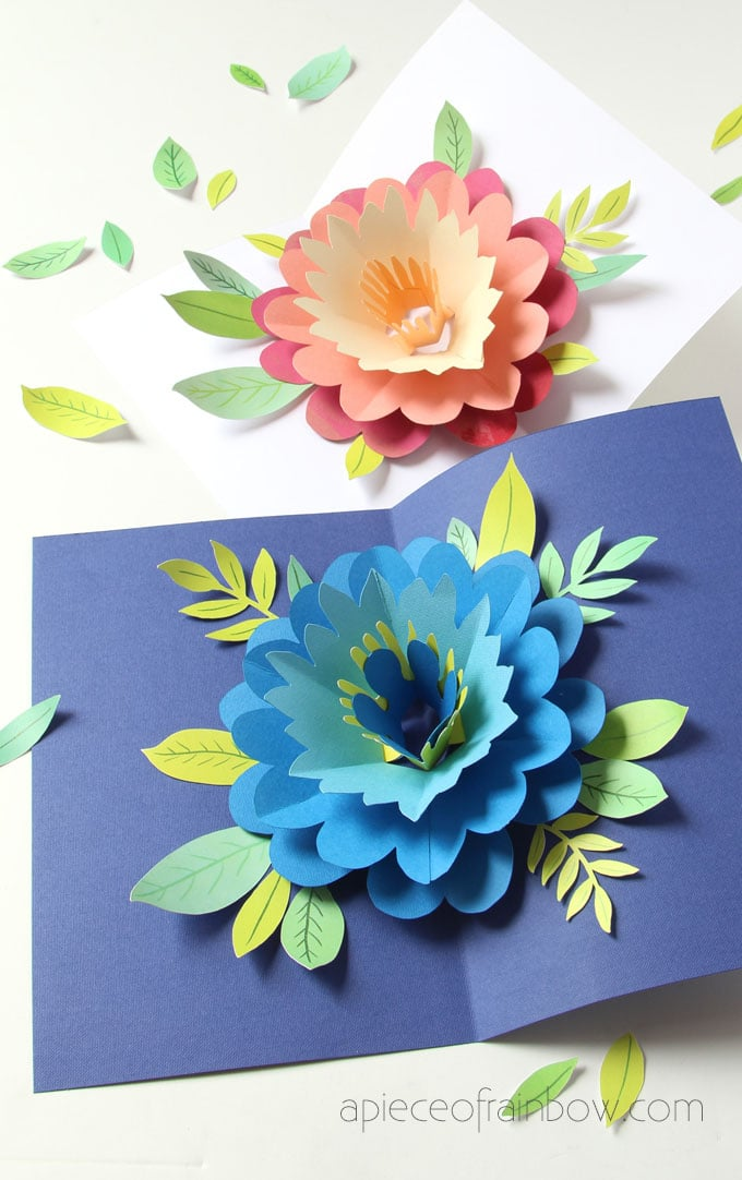 Free Design is flat and friend. Diy Happy Mother S Day Card With Pop Up Flower A Piece Of Rainbow SVG, PNG, EPS, DXF File