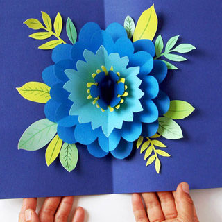 How to Make a Pop Up Flower Card - Easy Spring Tulip Craft for kids! | 320x320
