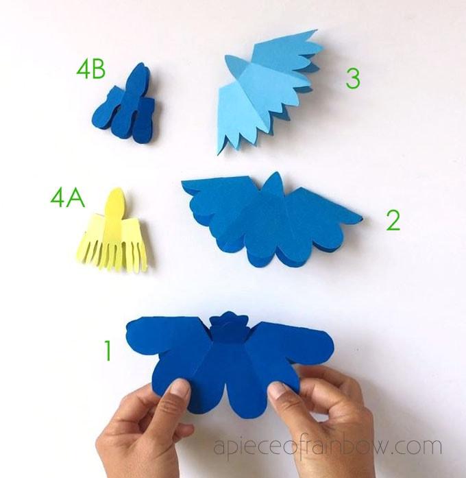 10pcs Peony Flower Handmade Kirigami Origami 3D Pop UP Greeting ...   697x680