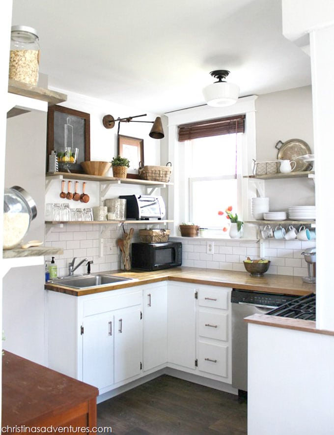 Beautiful all white farmhouse kitchen remodel ideas