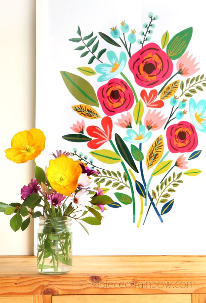 DIY Beautiful Large Wall Art {$5 and 1 hour!} - A Piece Of