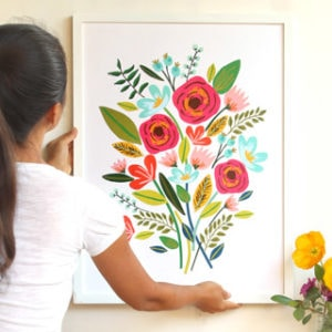 make a beautiful framed large wall art for almost FREE, on canvas or paper!