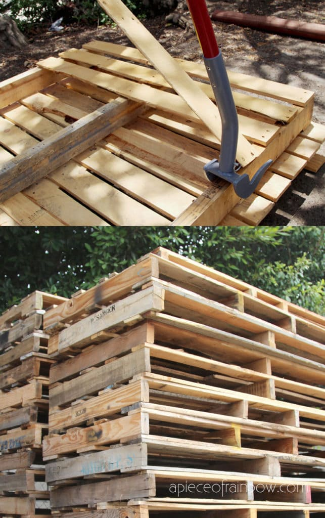 Best DIY wood pallets ideas & tips on where to find free pallets, how to dismantle & use pallet wood to make furniture,  home décor, crafts, and outdoor garden projects!