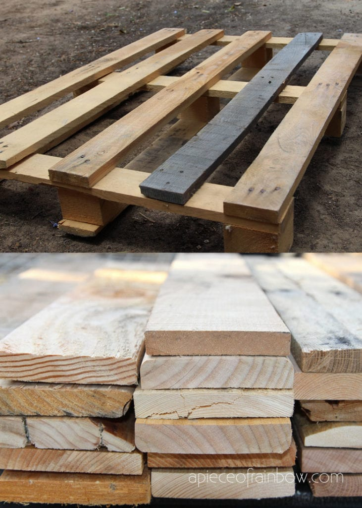using pallet wood for DIY projects