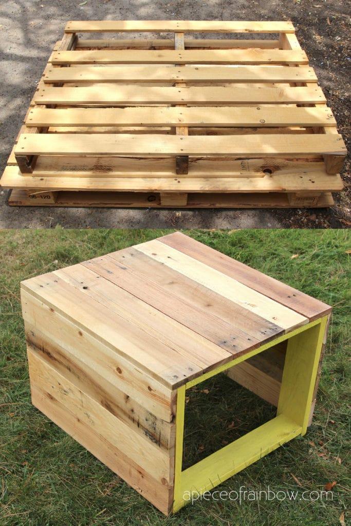 build a pallet bench