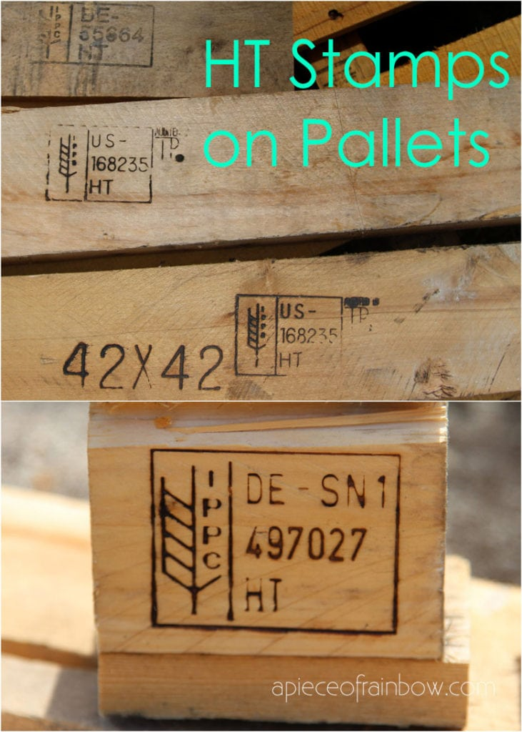 HT stamps on pallet wood