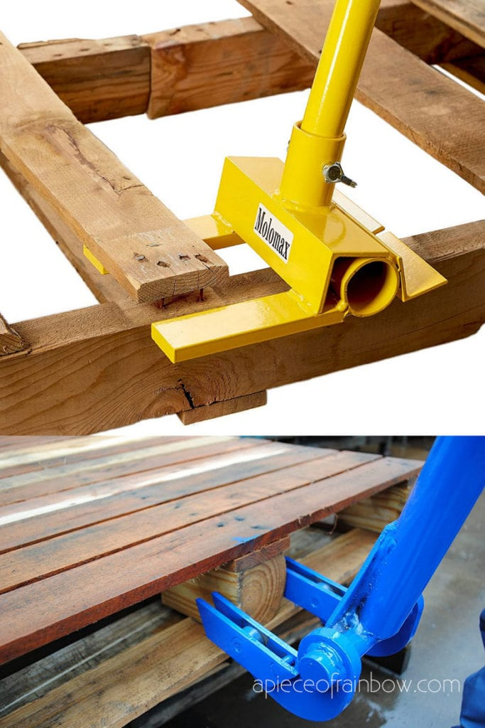 Disassemble pallets with pallet buster