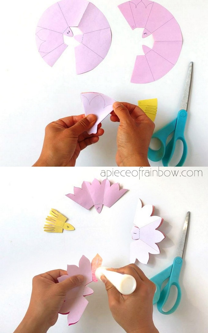 cut out flower shapes for handmade birthday card