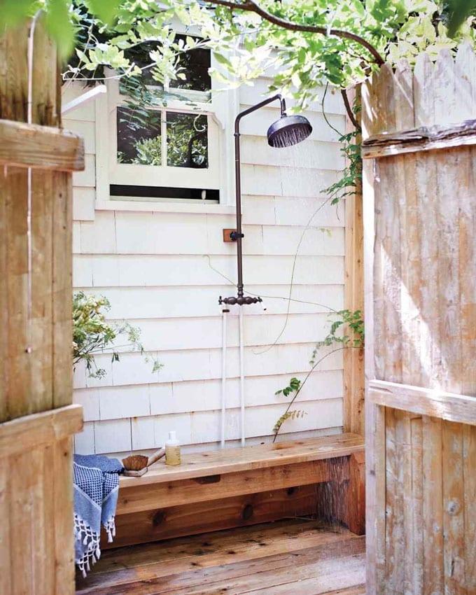 Farmhouse Outdoor Shower