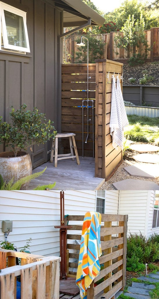DIY Pallet Outdoor Shower Ideas