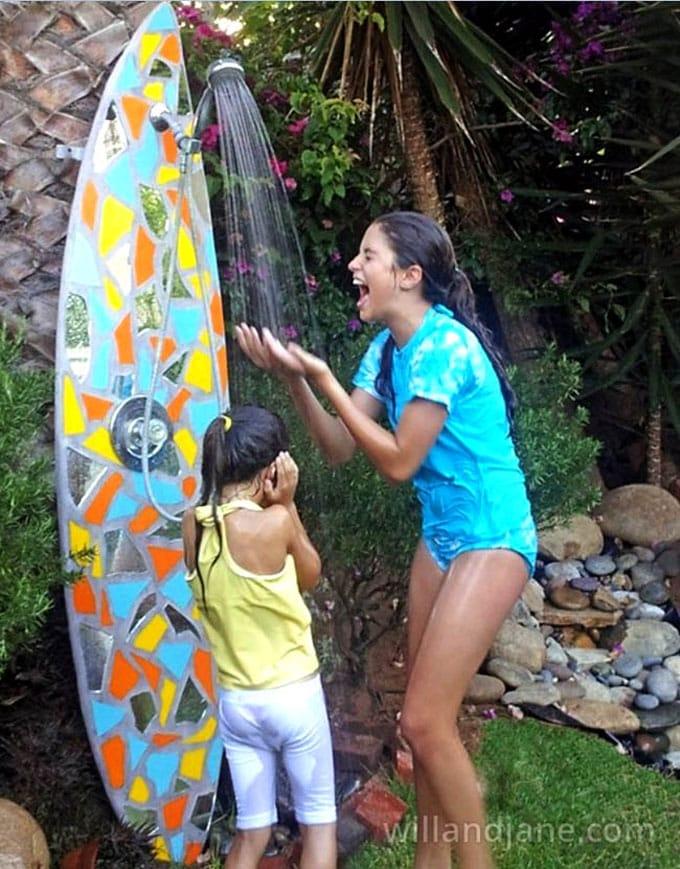 Repurposed Outdoor Shower Fixtures