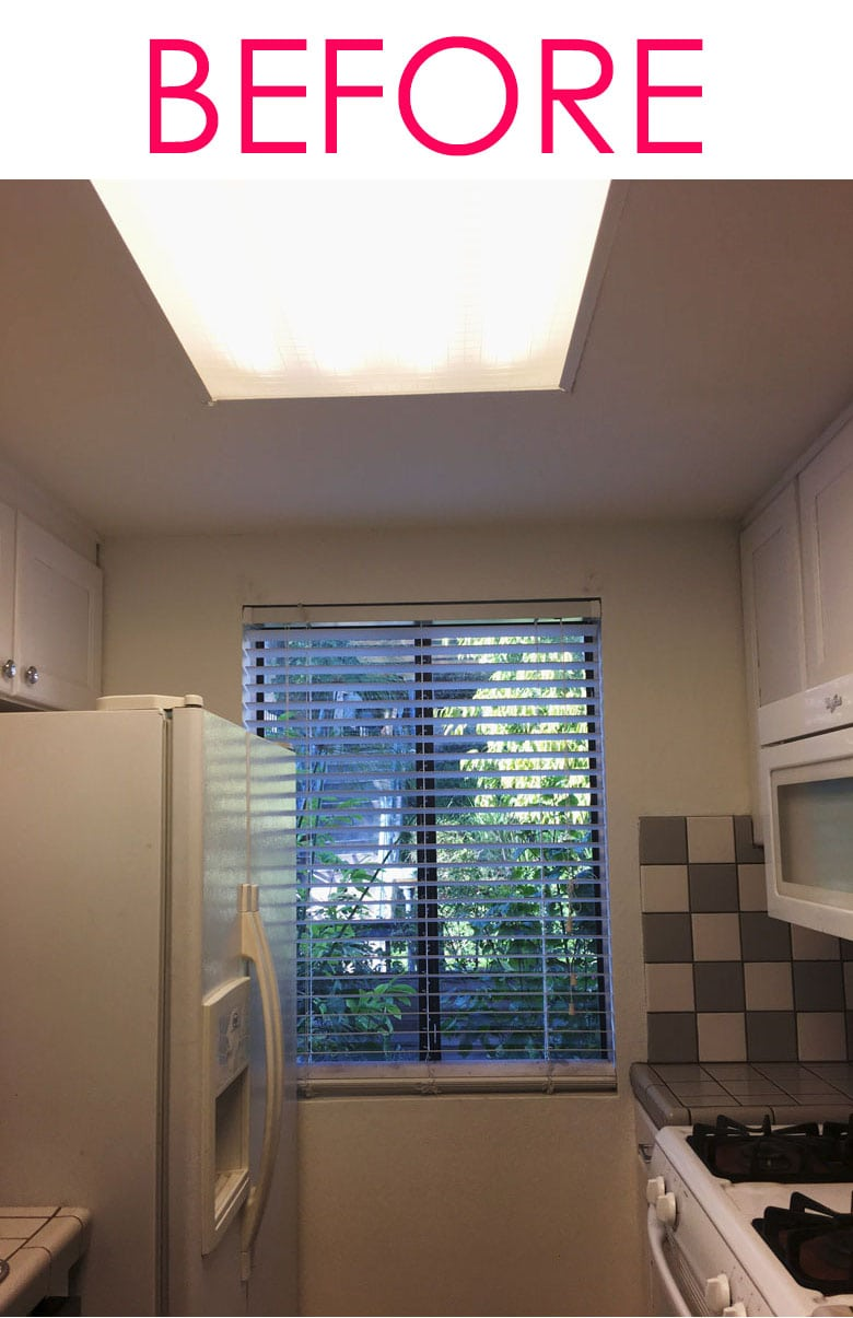removing fluorescent lights to update kitchen lighting