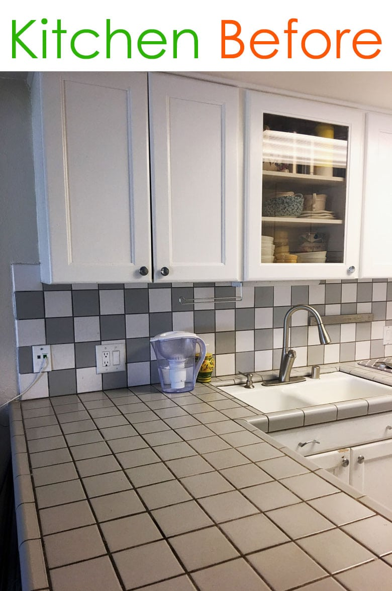kitchen layout before : small kitchen with tile countertop