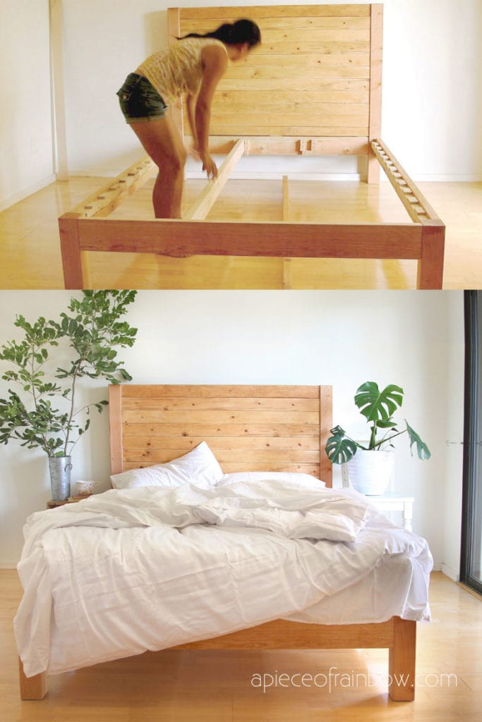 Diy Bed Frame Wood Headboard 1500 Look For 100 A Piece Of