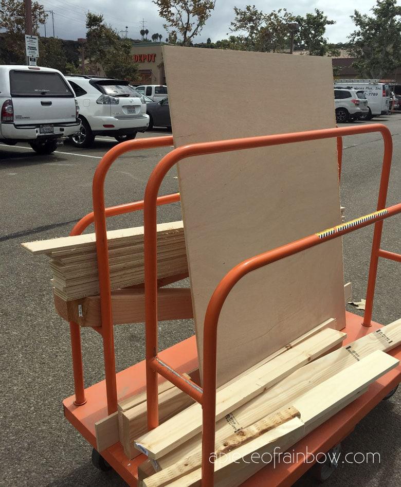 buying wood at homedepot