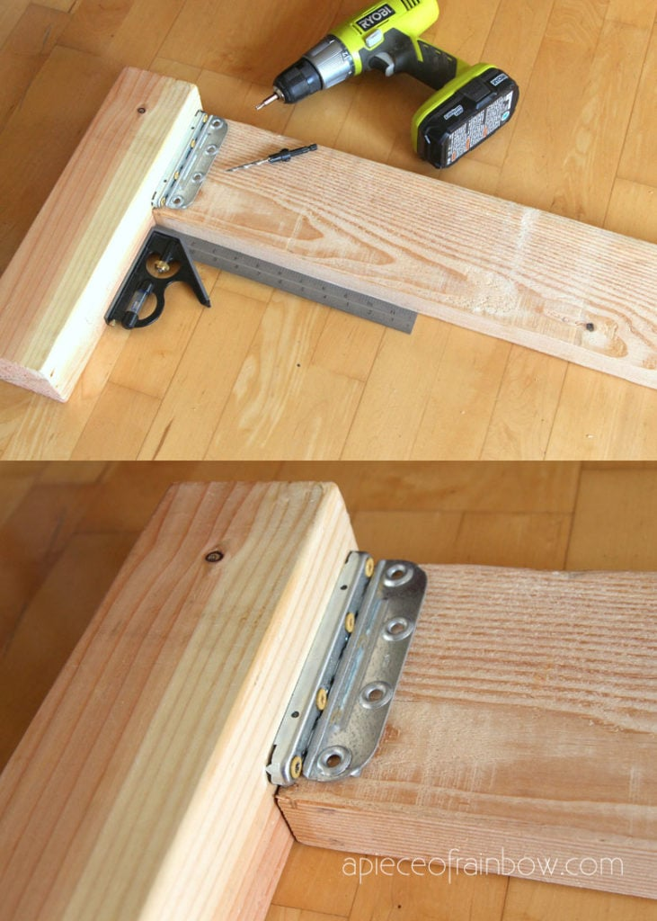 easy DIY bed rail brackets