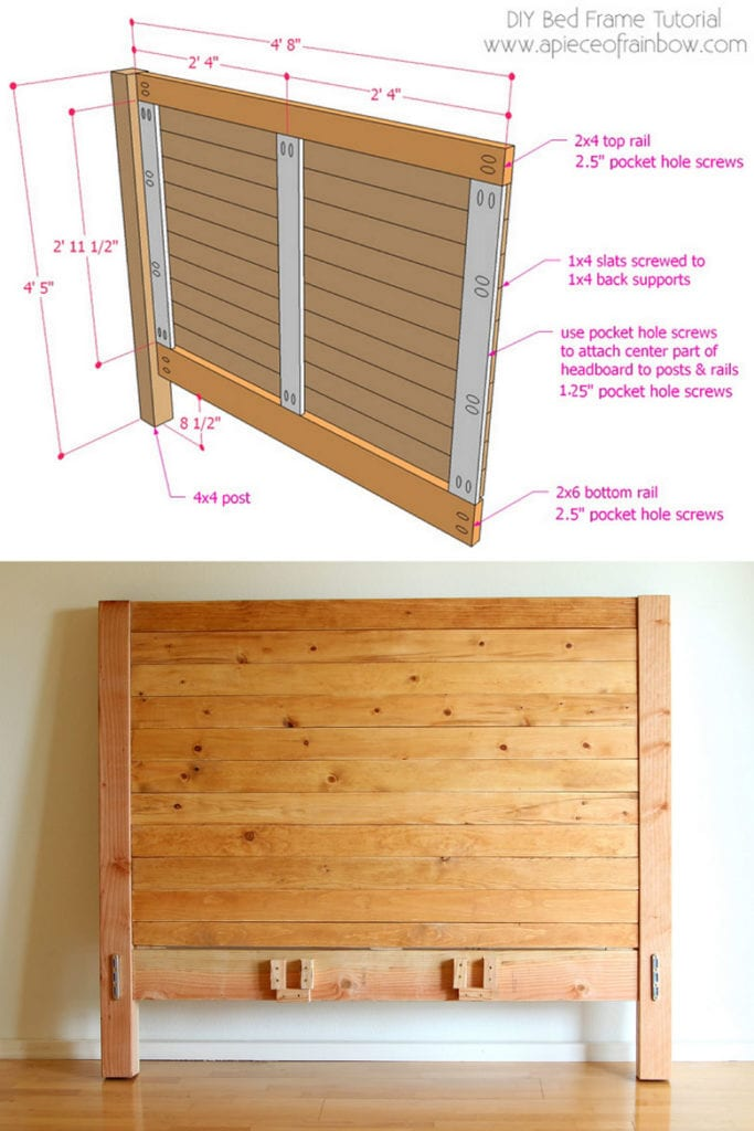 how to build wood headboard