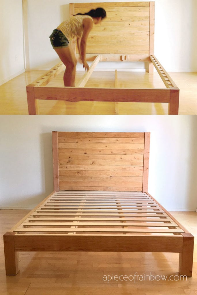 easy to assemble bed frame