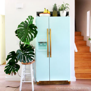 smeg fridge inspired retro fridge knock off