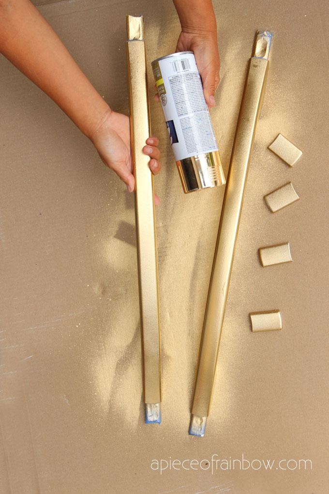spray paint fridge handles gold