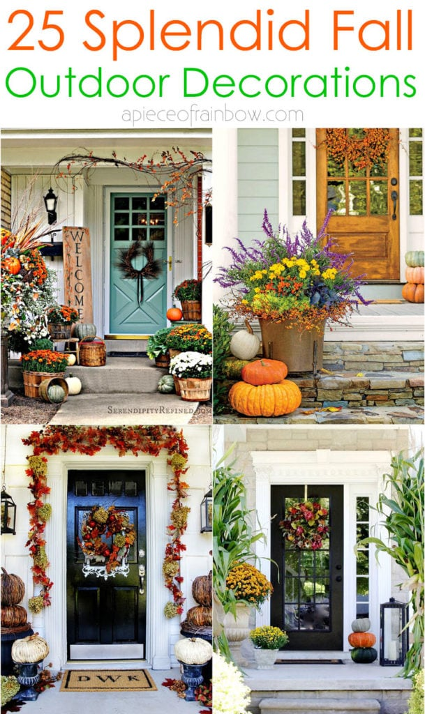 25 Splendid Diy Outdoor Fall Decorations A Piece Of Rainbow
