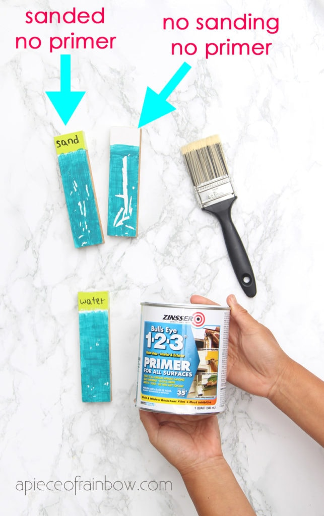 paint primer test Zinsser 123 primer which is a water based primer