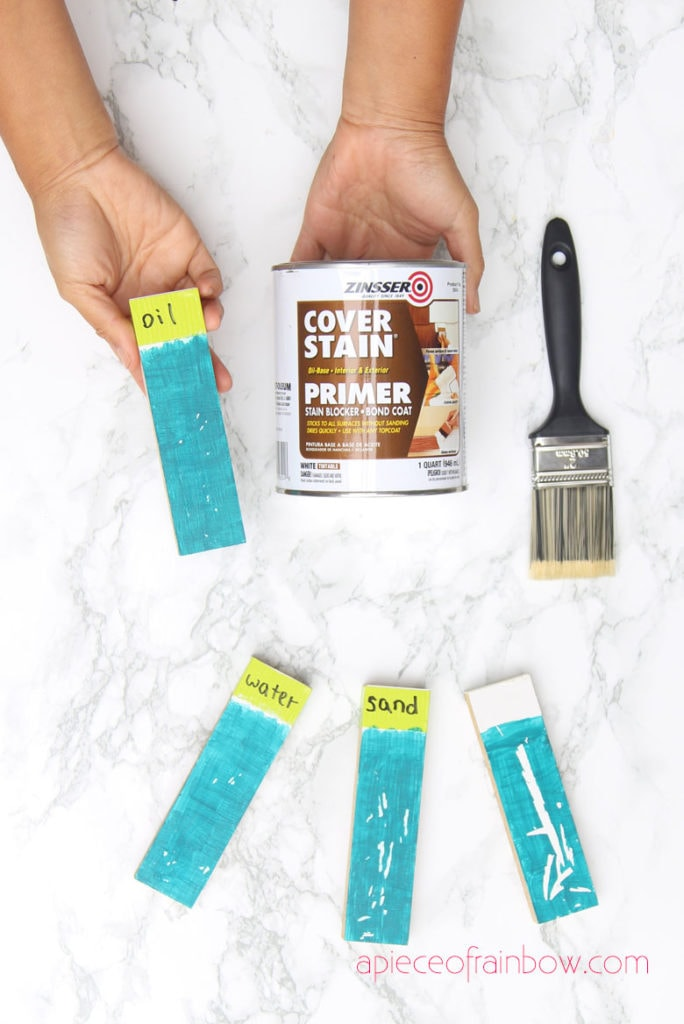 paint primer test Zinsser Cover Stain oil based primer