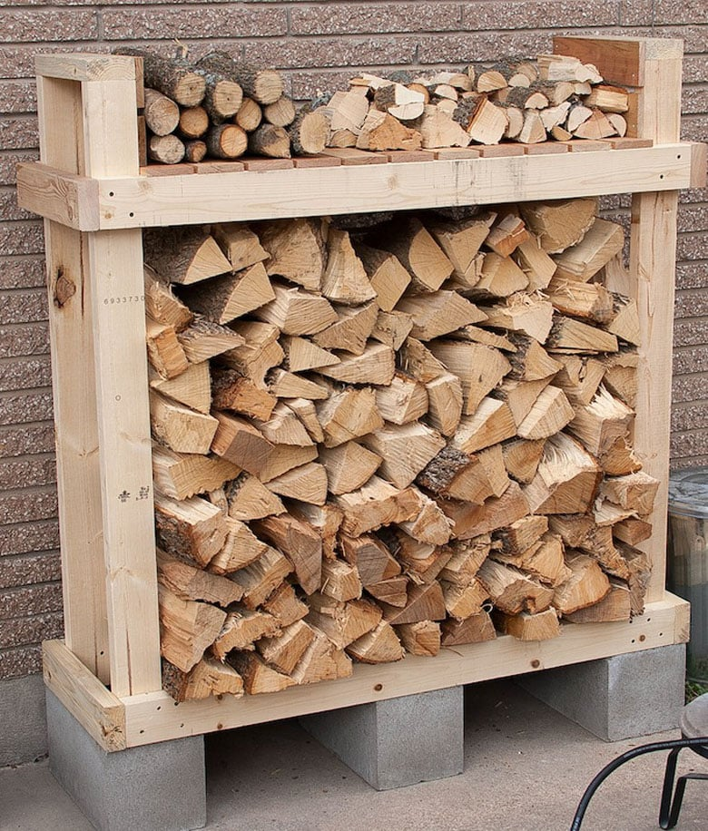 Easy DIY firewood rack and log holders