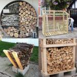 15 best indoor & outdoor DIY firewood rack & storage ideas, such as easy DIY wood rack, creative log holders, simple firewood shed, & more!