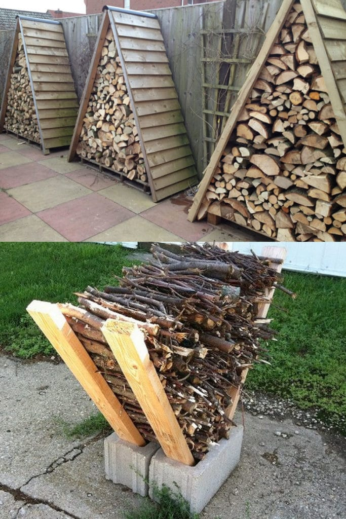 outdoor firewood storage ideas