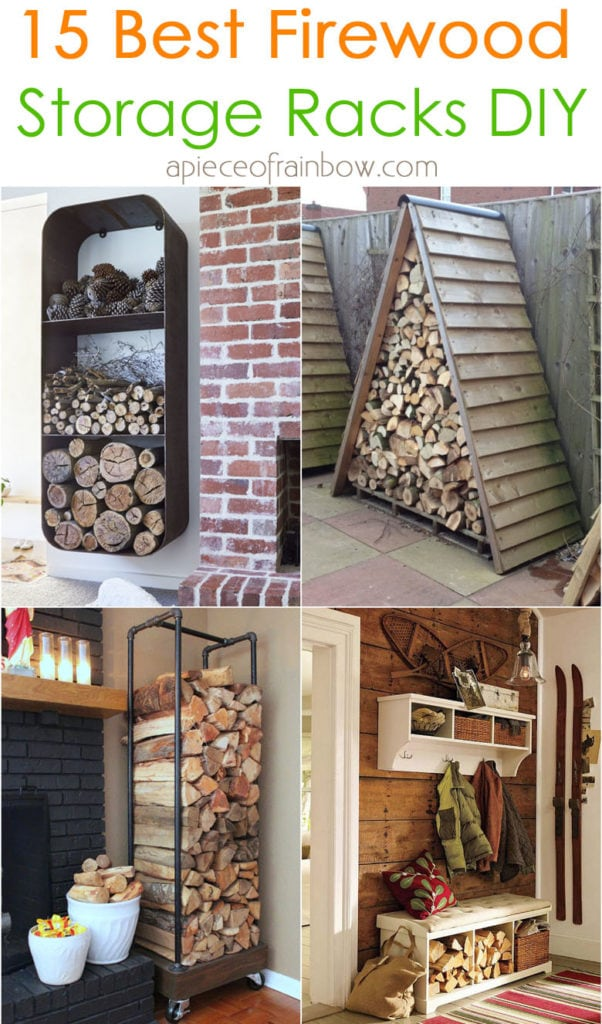 15 best indoor & outdoor DIY firewood rack & storage ideas, such as easy DIY wood rack, creative log holders, simple firewood shed, & more!