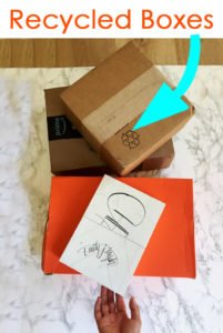cardboard boxes upcycle DIY