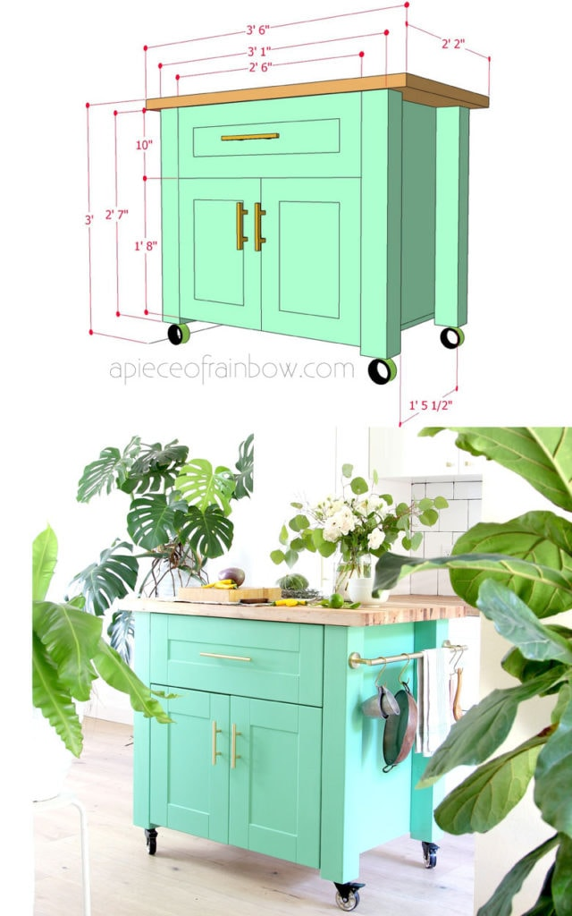 Farmhouse diy kitchen island an ikea hack a piece of for Tutorial ikea home planner
