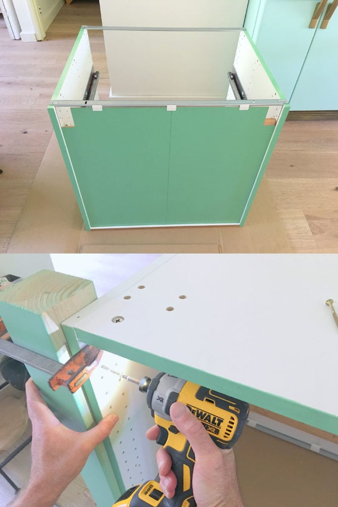 build a kitchen island with ikea base cabinet