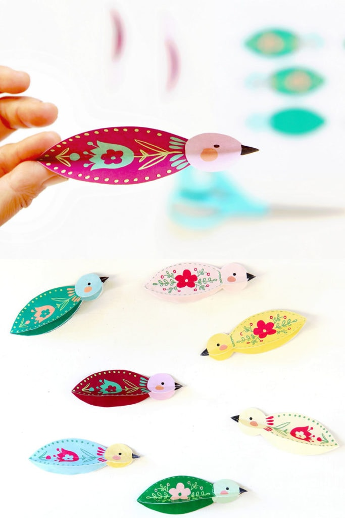paper crafts bird pattern