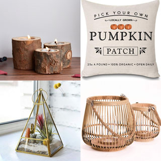 Beautiful farmhouse fall decor and gifts: most under $25! Perfect for autumn and Thanksgiving decorations! Plus some home decor inspirations style showcase!