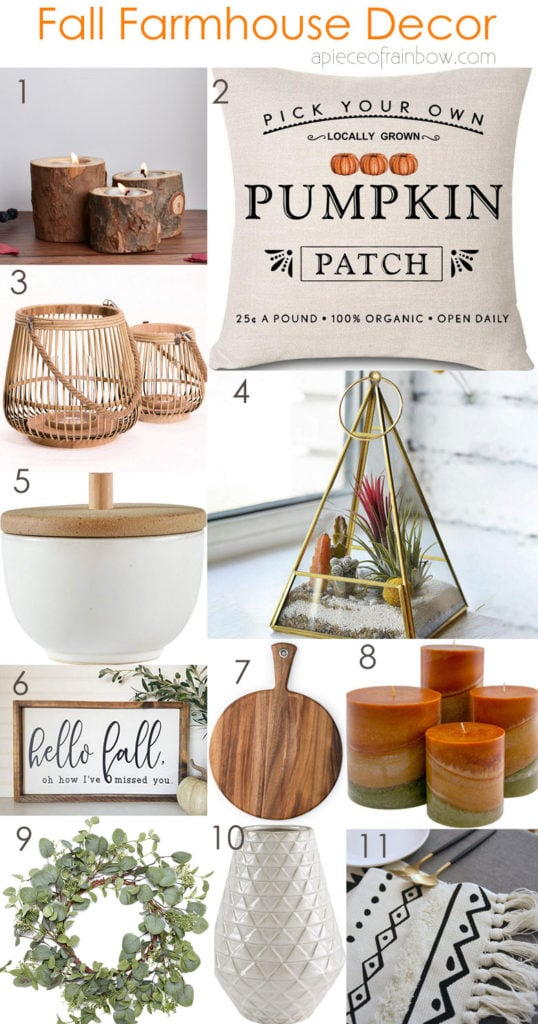 amazon farmhouse decor for fall and thanksgiving
