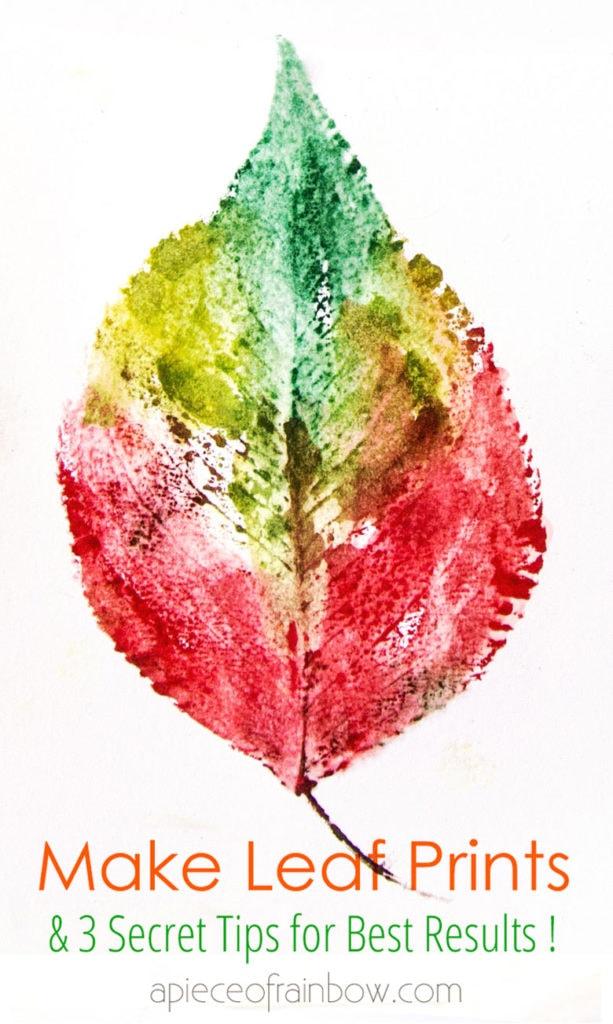 watercolor style leaf art printing