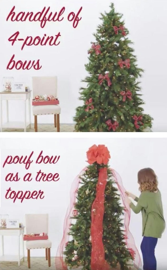 Professional Christmas tree decorating: how to use ribbons,